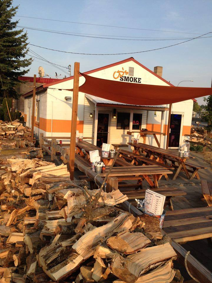 bbq patio wood outdoor restaurant